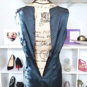 Tahari Dresses - Tahari Cap Sleeve Midi Cocktail Dress in Navy Blue